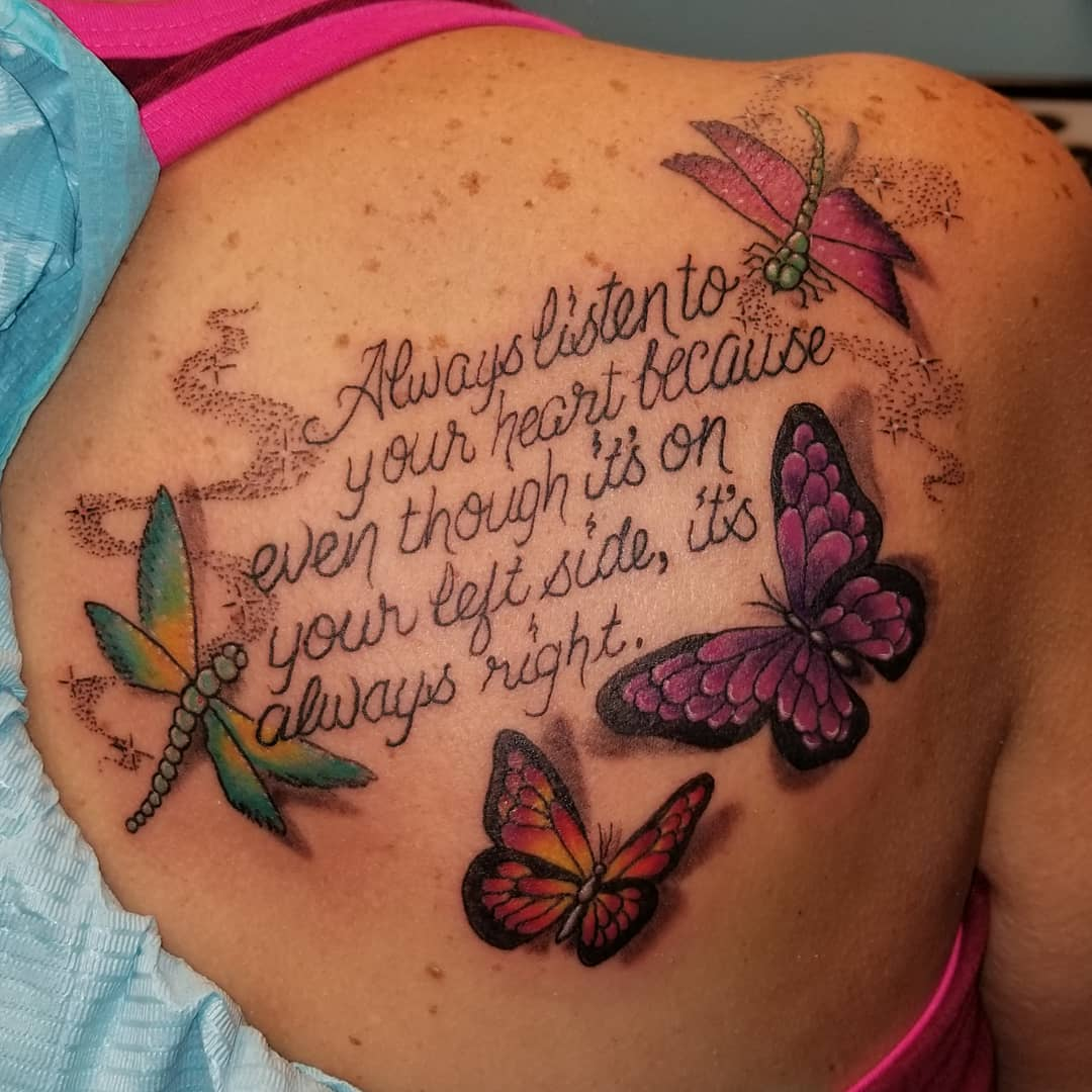 Tattoo Quotes Butterfly: 55+ Best Quote Tattoo Ideas For Women