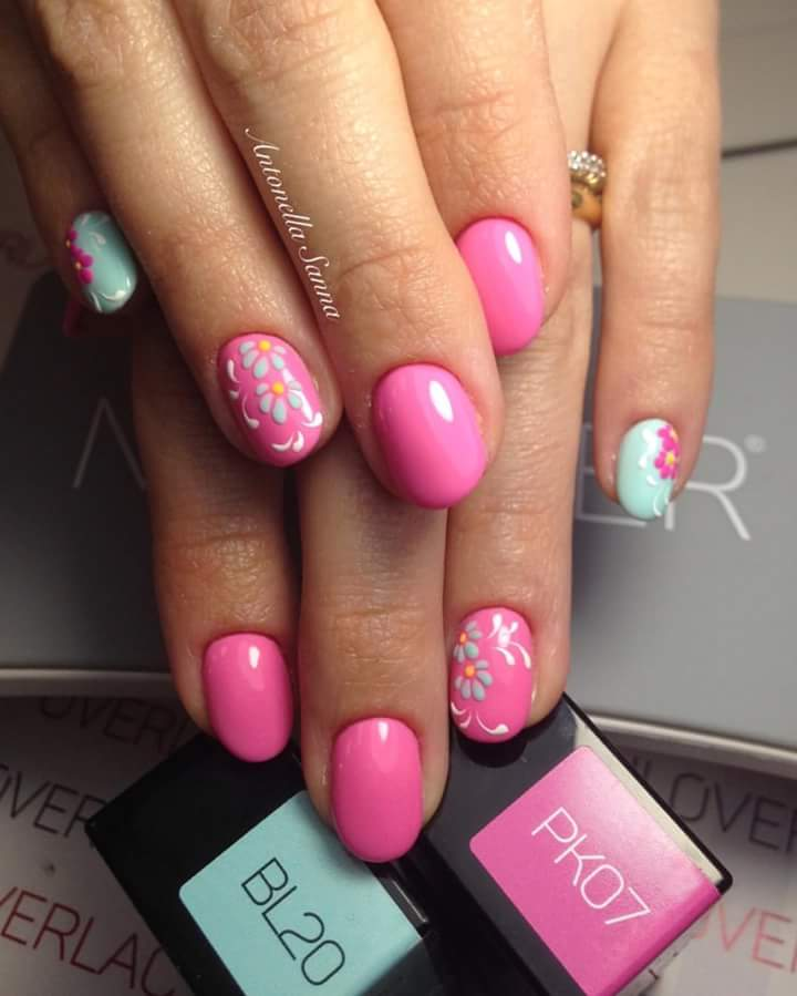 Sy Pink Short Summer Nails