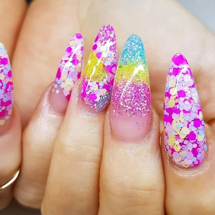 Vibrant Liquid Gloss Nail Art