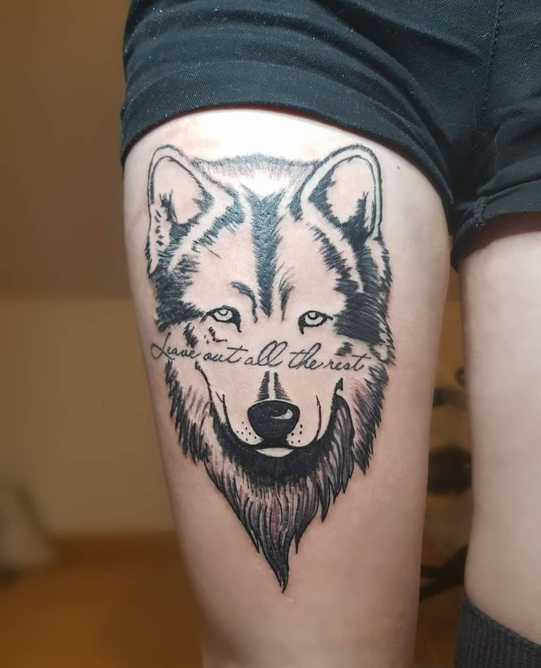 55 best quote tattoo ideas for women for Meaningful thigh tattoos