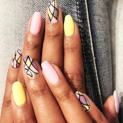 Artistic Summer Nail Art For Round Nails Blurmark
