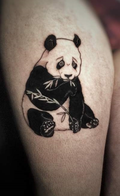Cute Black And White Panda Tattoo Blurmark