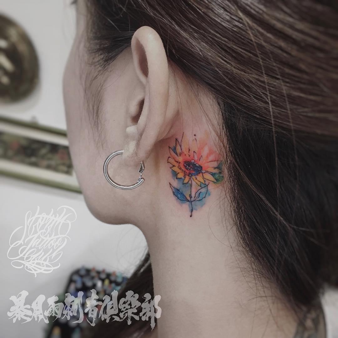 Lotus flower behind ear tattoo images flower wallpaper hd lotus flower tattoo behind ear choice image flower wallpaper hd lotus flower behind ear tattoo gallery izmirmasajfo