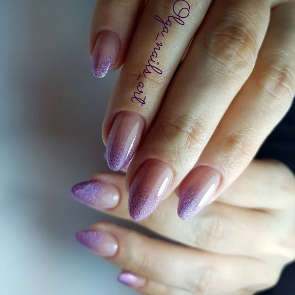 Fresh And Sparkling Long Gel Nails - Blurmark