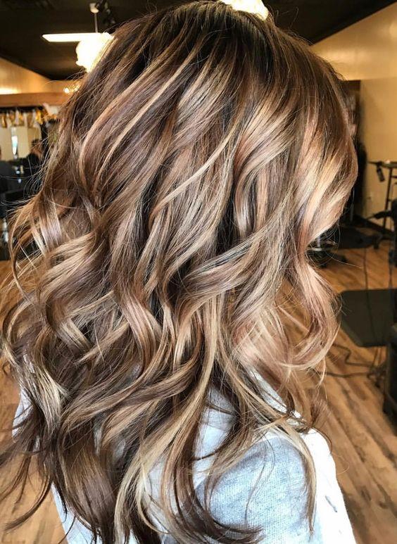 Fabulous Wavy Loose Curls Style For Short Mahogany Hair
