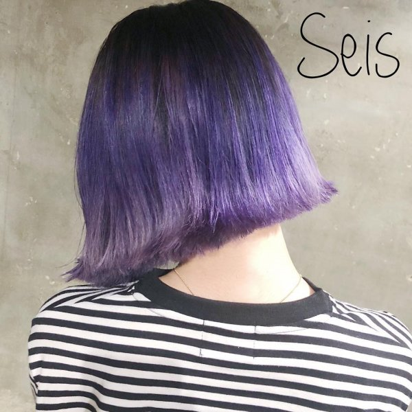 Glamorous Combination Of Silver Purple Ombre Hair Color Blurmark