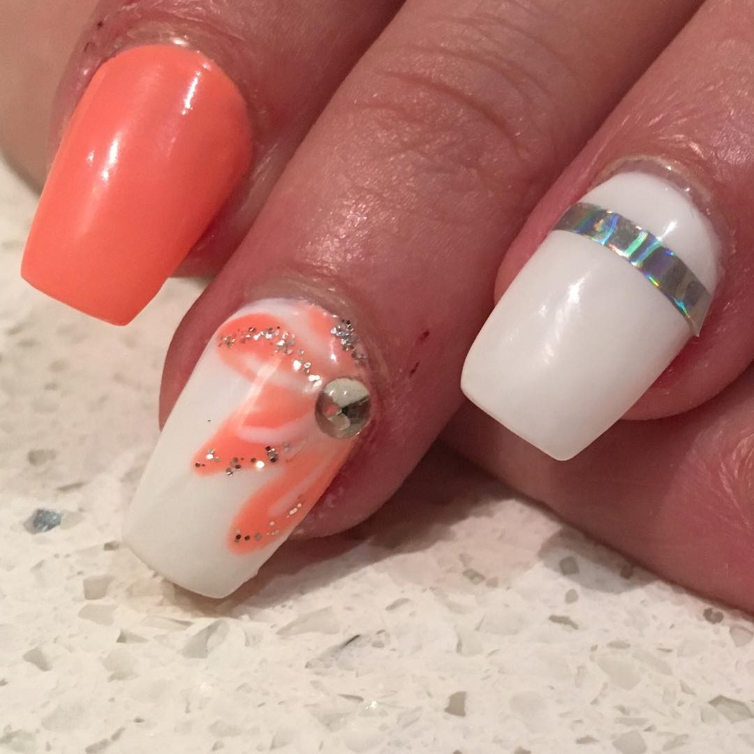 simple flower nail art Archives , Blurmark