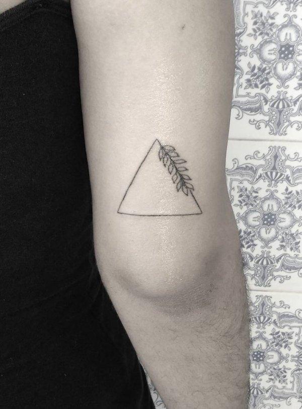 Simple Fineline Geometric Tattoo On Arm Blurmark