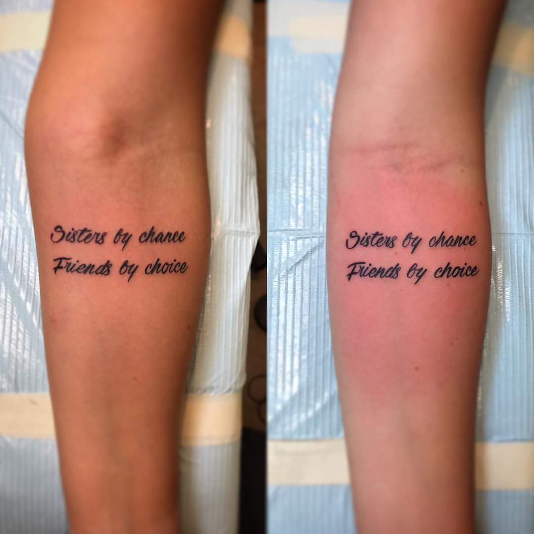 53 Marvelous Quotes Shoulder Tattoos: 60 Cool Sister Tattoo Ideas To Express Your Sibling Love