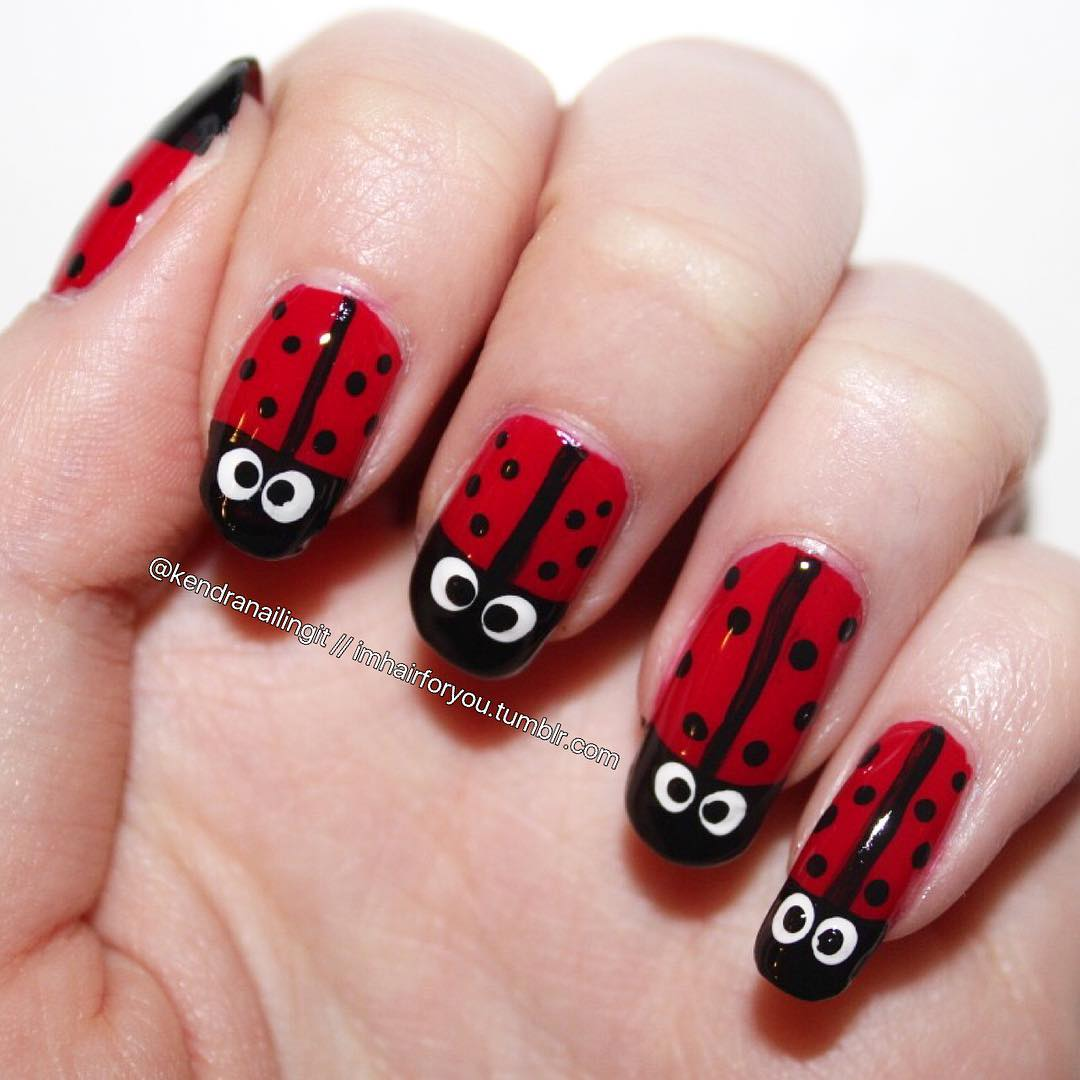 55 Super Easy Nail Designs: 55 Easy Nail Art Design Ideas You Can Do It At Your Home
