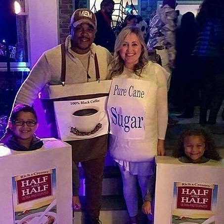 Incredible Half N Half Halloween Family Costume Idea Pic By